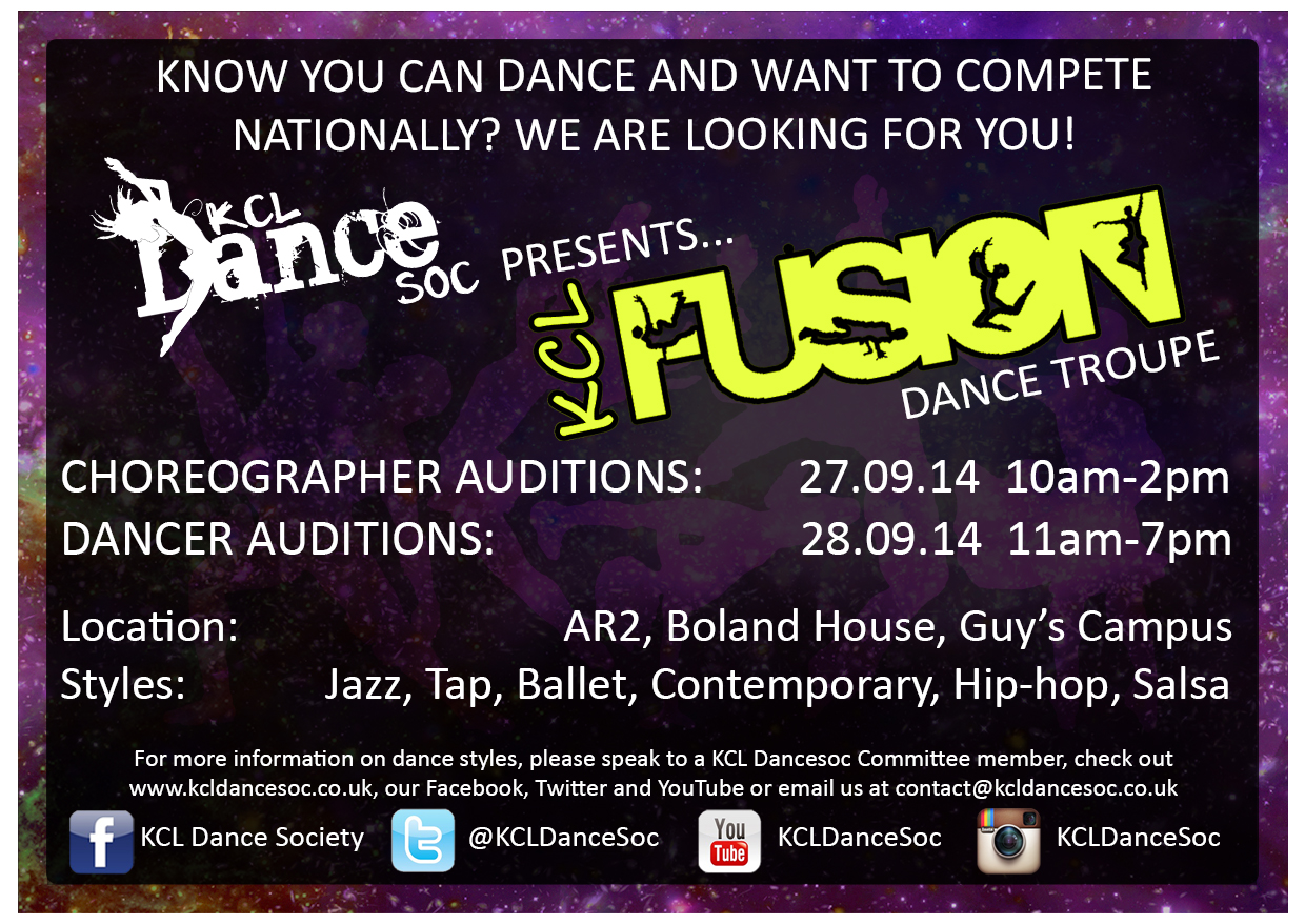 FUSION Auditions Poster 2014 15