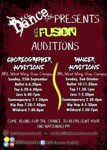 fusion audition timetable